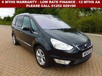USED 2014 14 FORD GALAXY 2.0 TITANIUM TDCI 5d AUTO 138 BHP All retail cars sold are fully prepared and include - Oil & filter service, 6 months warranty, minimum 6 months Mot, 12 months AA breakdown cover, HPI vehicle check assuring you that your new vehicle will have no registered accident claims reported, or any outstanding finance, Government VOSA Mot mileage check. Because we are an AA approved dealer, all our vehicles come with free AA breakdown cover and a free AA history check.. Low rate finance available. Up to 3 years warranty available.