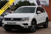USED 2016 16 VOLKSWAGEN TIGUAN 2.0 SE TDI BMT 5d 148 BHP LANE ASSIST, FRONT AND REAR PARK PILOT, CRUISE CONTROL, FULL SERVICE HISTORY