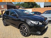 USED 2015 65 NISSAN QASHQAI 1.2 TEKNA DIG-T XTRONIC 5d AUTO 113 BHP FSH+LEATHER+PAN ROOF+CRUISE+BT