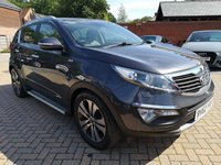 USED 2012 62 KIA SPORTAGE 2.0 KX-4 CRDI 5d 181 BHP FSH+LEATHER+SATNAV+CRUISE+BT
