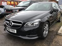 USED 2013 13 MERCEDES-BENZ E CLASS 2.1 E220 CDI SE 4d AUTO 168 BHP Diesel, automatic, black, leather, economical, low tax, great value, superb.