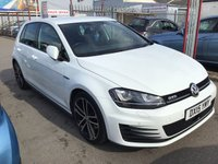 USED 2015 15 VOLKSWAGEN GOLF 2.0 GTD 5d 181 BHP Diesel, white, 5 door,  economical, low tax, 67000 miles, stunning,