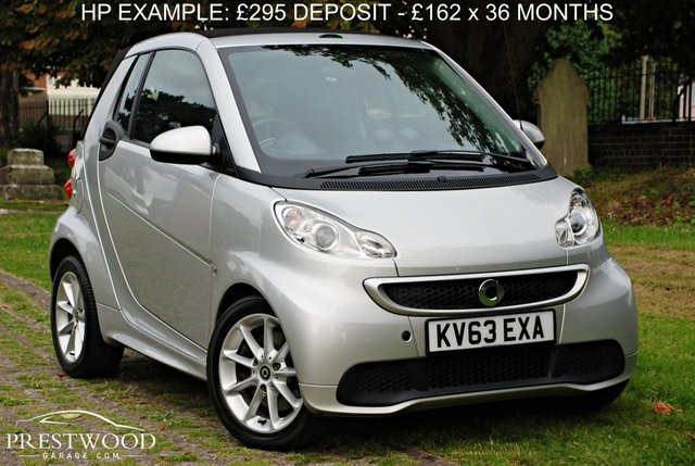 2013 63 SMART FORTWO CABRIO 1.0 PASSION MHD SOFTOUCH AUTO [71 BHP] CONVERTIBLE