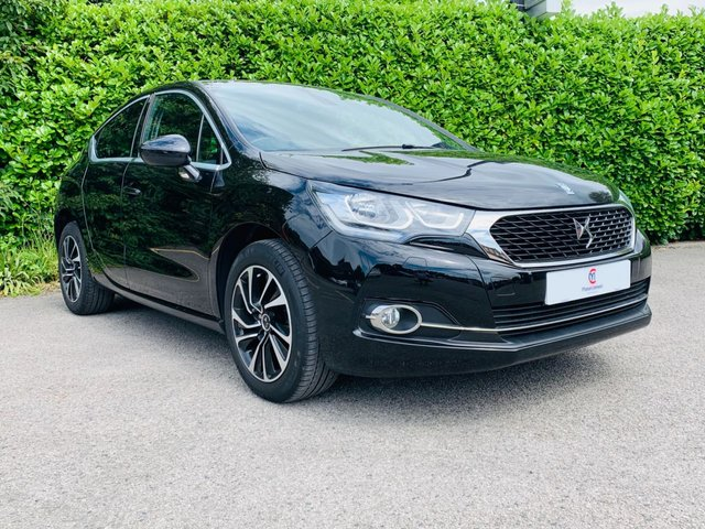"USED 2016 16 DS DS 4 1.6 BLUEHDI ELEGANCE S/S 5d 120 BHP One Owner From New, £0 Tax Per Year, Sat Nav, Bluetooth, Rear Parking Sensors, 17"" Diamond Cut Alloy Wheels, Privacy + Tinted Glass, Finished In Black Metallic Paintwork, Cruise Control, Climate Control, Air Conditioning, Spare Key, Drive Away In Under 1 Hour"