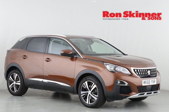 View our 2018 68 PEUGEOT 3008 1.6 PURETECH S/S ALLURE 5d AUTO 179 BHP