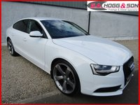USED 2014 64 AUDI A5 2.0 SPORTBACK TDI SE 5dr AUTO 177 BHP *REG'D SEPTEMBER 2014* *BLACK EDITION STYLING PACK, GLOSS BLACK RS5 GRILLE & PRIVACY GLASS*