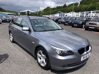 USED 2008 58 BMW 5 SERIES 2.0 520D SE TOURING 5d 175 BHP Met Grey, Black leather, Sat Nav, service history