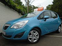 USED 2012 12 VAUXHALL MERIVA 1.4 EXCLUSIV A/C 5d 118 BHP GUARANTEED TO BEAT ANY 'WE BUY ANY CAR' VALUATION ON YOUR PART EXCHANGE