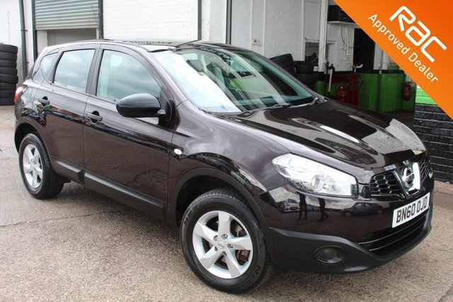 USED 2010 60 NISSAN QASHQAI 1.6 VISIA 5d 117 BHP VIEW AND RESERVE ONLINE OR CALL 01527-853940 FOR MORE INFO.