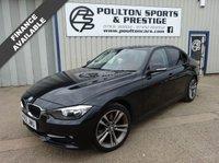 USED 2012 62 BMW 3 SERIES 2.0 320D SPORT + SAT NAV + RED LEATHER + HEAT SEATS + FSH