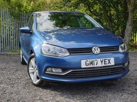 2017 VOLKSWAGEN POLO 1.0 MATCH EDITION 5d 60 BHP