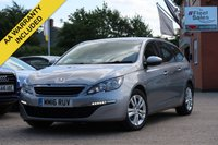 USED 2016 16 PEUGEOT 308 1.6 BLUE HDI S/S SW ACTIVE 5d 120 BHP 1 OWNER FROM NEW FULL MAIN DEALER HISTORY SATELLITE NAVIGATION