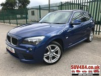 USED 2012 12 BMW X1 2.0 XDRIVE20D M SPORT 5d 174 BHP LEATHER FSH BODYKIT. X DRIVE 4WD. STUNNING LE MANS BLUE WITH FULL BLACK LEATHER SPORT TRIM. HEATED SEATS. CRUISE CONTROL. 18 INCH ALLOYS. COLOUR CODED TRIMS. PRIVACY GLASS.  PARKING SENSORS. BLUETOOTH PREP. CLIMATE CONTROL WITH AIR CON. 6 SPEED MANUAL. R/CD PLAYER. MFSW. TOW BAR. MOT 03/20. SERVICE HISTORY. PRESTIGE SUV CENTRE LS23 7FR. TEL 01937 849492 OPTION 1