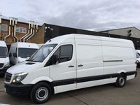 USED 2017 17 MERCEDES-BENZ SPRINTER 2.1 314CDI LWB HIGH ROOF 140BHP. EURO 6. WARRANTY 04/2020. EURO6. SENSORS. MERC WARRANTY 04/2020. FINANCE. PX