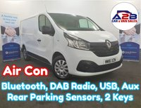 2016 RENAULT TRAFIC 1.6 DCi SL27 BUSINESS PLUS ENERGY 120 BHP in White with Air Conditioning, Bluetooth, DAB Radio, Rear Parking Sensors and more £8990.00