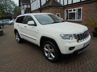2012 JEEP GRAND CHEROKEE 3.0 V6 CRD OVERLAND 5d AUTO 237 BHP SAT NAV 1 Lady Owner £13995.00