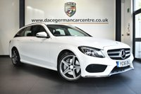 "USED 2016 16 MERCEDES-BENZ C CLASS 2.1 C250 D AMG LINE 5DR AUTO 204 BHP full service history * NO ADMIN FEES * FINISHED IN STUNNING WHITE WITH FULL BLACK LEATHER INTERIOR + FULL SERVICE HISTORY + SATELLITE NAVIGATION + BLUETOOTH + CRUISE CONTROL + HEATED SEATS + CLIMATE CONTROL + PARKING SENSORS + 18"" ALLOY WHEELS"