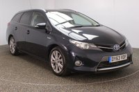 USED 2013 63 TOYOTA AURIS 1.8 VVT-I EXCEL 5DR AUTO SAT NAV HEATED HALF LEATHER 1 OWNER98 BHP SERVICE HISTORY + HEATED HALF LEATHER SEATS + SATELLITE NAVIGATION + REVERSE CAMERA + PARKING SENSOR + PANORAMIC ROOF + BLUETOOTH + CRUISE CONTROL + CLIMATE CONTROL + MULTI FUNCTION WHEEL + XENON HEADLIGHTS + DAB RADIO + PRIVACY GLASS + ELECTRIC WINDOWS + ELECTRIC MIRRORS + 17 INCH ALLOY WHEELS