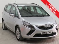 USED 2016 16 VAUXHALL ZAFIRA TOURER 1.4 DESIGN 5d 138 BHP Stunning Vauxhall Zafira Tourer 7 Seats in Sovereign Silver with just 1 Previous Owner, Full Service History and an MOT until 2nd April 2020. In addition this car comes fully equipped with Front and Rear Parking Sensors, Bluetooth, Air Conditioning, Cruise Control, CD DAB Radio, Alloy Wheels, 2 Keys and a Free Warranty. Nationwide Delivery Available. Finance Available at 9.9% APR Representative.