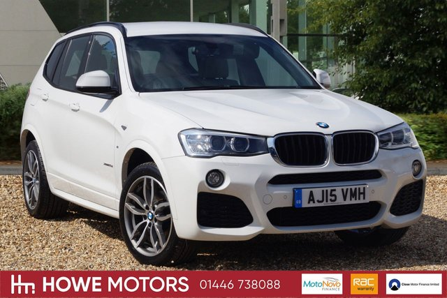 2015 15 BMW X3 2.0 XDRIVE20D M SPORT 5d 188 BHP NAVIGATION HEATED NEVADA LEATHER DAB PDC XENON REVERSE CAMERA 19