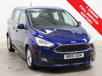 USED 2016 16 FORD GRAND C-MAX 1.5 ZETEC TDCI 5d AUTO 118 BHP Stunning Ford Grand C Max just had 1 Previous Owner, Full Ford Service History and has MOT to the 30th April 2020. In addition this great 7 Seater comes in Metallic Deep Impact Blue and with a great specification including Parking Sensors, Cruise Control, Ford Sync, Bluetooth, Air Conditioning, Leather Multi Functional Steering Wheel, Alloy Wheels and comes with a Free Warranty. Nationwide Delivery Available. Finance Available at 9.9% APR Representative.