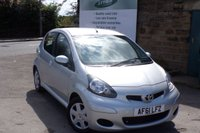 USED 2011 61 TOYOTA AYGO 1.0 VVT-I ICE 5d 68 BHP ONLY £20 Road Tax