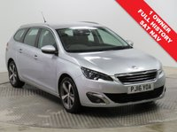 USED 2016 16 PEUGEOT 308 1.6 BLUE HDI S/S SW ALLURE 5d AUTO 120 BHP SAT NAV Stunning Peugeot 308 SW 1.6Blue HDI Auto having had just 1 Previous Owner and comes with Full Peugeot Service History and an MOT to 4th April 2020. In metallic Aluminium this car comes in the best specification which includes SAT NAV, Front & Rear Parking Sensors, Cruise Control, Leather Multi Functional Steering Wheel, Electrically Operated Folding Wing Mirrors, Cruise Control, Air Conditioning, Bluetooth, Alloy Wheels, DAB Radio, USB/AUX, 2 Keys and comes with a Free Warranty.