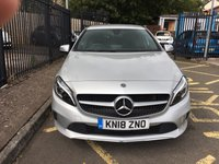 USED 2018 18 MERCEDES-BENZ A CLASS 1.6 A 180 SPORT EDITION 5d AUTO 121 BHP STUNNING PLATINUM SILVER WITH HALF ARTICO LEATHER AND MARINGA FABRIC UPHOLSTERY. ONLY ONE OWNER WITH FULL MERCEDES BENZ SERVICE HISTORY. SATELLITE NAVIGATION. REAR CAMERA. PARKING SENSOR. DIAMOND CUT ALLOY WHEELS. AIR CONDITIONING. ELECTRIC WINDOWS ALL ROUND. REMOTE CENTRAL LOCKING. CRUISE CONTROL. PLEASE GOTO www.lowcostmotorcompany.co.uk TO VIEW OVER 120 CARS IN STOCK