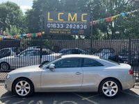 USED 2009 09 AUDI A5 2.0 TFSI 3d 208 BHP STUNNING SAHARA SILVER METALLIC WITH FULL BLACK LEATHER UPHOLSTERY. FULL SERVICE HISTORY. MOT TILL FEBRUARY 2020. CRUISE CONTROL. AIR CONDITIONING. BLUETOOTH. ALLOY WHEELS. ELECTRIC WINDOWS. REMOTE CENTRAL LOCKING WITH TWO KEYS. PLEASE GOTO www.lowcostmotorcompany.co.uk TO VIEW OVER 120 CARS IN STOCK, SOME OF THE CHEAPEST ONLINE.