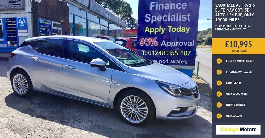 2016 Vauxhall Astra Elite Nav CDTI £10,995