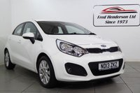 USED 2013 13 KIA RIO 1.1 CRDI 2 ECODYNAMICS 5d 74 BHP One owner with Full Kia Service History, Air conditioning