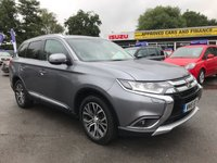 2019 MITSUBISHI OUTLANDER 5 DOOR 2.2 DI-D 4 AUTOMATIC IN METALLIC GREY WITH 7 SEATS,SAT NAV,FULL BLACK LEATHER INTERIOR IN STUNNING CONDITION WITH ONLY 18000 MILES. £21299.00