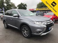 USED 2019 MITSUBISHI OUTLANDER 5 DOOR 2.2 DI-D 4 AUTOMATIC IN METALLIC GREY WITH 7 SEATS,SAT NAV,FULL BLACK LEATHER INTERIOR IN STUNNING CONDITION WITH ONLY 18000 MILES.. ULEZ COMPLIANT  APPROVED CARS ARE P[LEASED TO OFFER THIS MITSUBISHI OUTLANDER 5 DOOR 2.2 DI-D 4 AUTOMATIC IN METALLIC GREY WITH 7 SEATS WITH GREAT SPEC INCLUDING SAN ROOF,FULL BLACK LEATHER INTERIOR,AUTOMATIC GEARBOX,SAT NAV,BLUETOOTH AND MUCH MUCH MORE WITH A FULL MITSUBISHI SERVICE HISTORY WITH A FULLY STAMPED SERVICE BOOK A STUNNING LOW MILEAGE OUTLANDER IN GREAT CONDITION.PLEASE CALL 01622-871-555 TODAY AND BOOK YOUR TEST DRIVE.