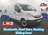 2014 VAUXHALL VIVARO 2.0 2900 CDTI ECOFLEX 115 BHP Long Wheel Base in White with Bluetooth, Mobile Workshop, Roof Bars, Sliding Door and more £6480.00