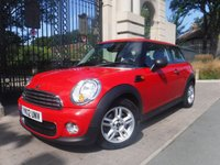 USED 2012 12 MINI HATCH ONE 1.6 ONE D 3d 90 BHP ****FINANCE ARRANGED****PART EXCHANGE WELCOME***PEPPER PACK*BLUETOOTH*2KEYS*SERVICE HISTORY*AIRCON*USB