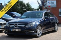 USED 2013 63 MERCEDES-BENZ C CLASS 2.1 C220 CDI BLUEEFFICIENCY AMG SPORT 4d 168 BHP SATELLITE NAVIGATION + FINANCE AVAILABLE