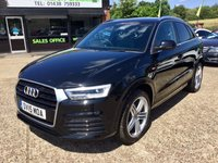 """USED 2015 15 AUDI Q3 2.0 TDI QUATTRO S LINE PLUS 5d 182 BHP ONE PRIVATE OWNER, SAT NAV, 19"""" ALLOYS, BLUETOOTH, HALF LEATHER INTERIOR, CLIMATE CONTROL, PARKING SENSORS, JUST BEEN SERVICED, SPARE KEY"""