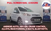 2017 FORD TRANSIT CONNECT 1.5 200 LIMITED  120 BHP, FULL COLOUR NAV , ANDROID AUTO, TWIN SLIDING DOORS, Air Con, Bluetooth, Cruise, 3 Seats, Alloys, Heated Screen, much more....  £10980.00
