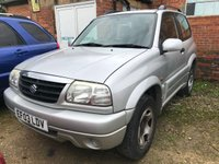USED 2003 03 SUZUKI GRAND VITARA 1.6 16V SE 3d 92 BHP AUTO GEARBOX. 4WD. SILVER MET WITH BLACK CLOTH TRIM. COLOUR CODED TRIMS. AIR CON. R/CD PLAYER.  MFSW. MOT 02/20. AGE/MILEAGE RELATED SALE. P/X CLEARANCE CENTRE - LS23 7FQ. TEL 01937 849492 OPTION 4