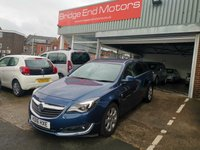 USED 2016 16 VAUXHALL INSIGNIA 1.6 SRI CDTI S/S 5d 134 BHP ONLY 6461 MILES FROM NEW, CHEAP TO RUN, LOW CO2 EMISSIONS (114G/KM), £30 ROAD TAX AND EXCELLENT FUEL ECONOMY!! GOOD SPECIFICATION INCLUDING PARKING SENSORS, AIR CONDITIONING,PRIVACY GLASS AND ALLOY WHEELS, MEETS ALL LARGE CITY EMISSION STANDARDS
