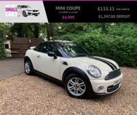USED 2014 63 MINI COUPE 1.6 COOPER 2d 120 BHP 2 OWNERS FULL SERVICE HISTORY MEGA LOW MILES BEST COLOUR STRIPES
