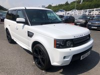 USED 2013 13 LAND ROVER RANGE ROVER SPORT 3.0 SDV6 HSE BLACK 5d AUTO 255 BHP Fuji White, Black Extended leather, HSE BLACK Edition high spec