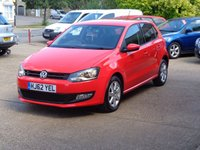 USED 2012 62 VOLKSWAGEN POLO 1.2 MATCH 5d 59 BHP full service history