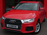 USED 2015 65 AUDI Q3 1.4 TFSI SE 5d 150 S/S £2520 OF OPTIONAL EXTRAS, UPGRADE SAT NAV, UPGRADE HEATED FRONT SEATS, UPGRADE COMFORT PACK INCLUDING FRONT & REAR PARKING SENSORS CRUISE CONTROL AUTO DIMMING REAR VIEW MIRROR & HIGH BEAM ASSIST, UPGRADE PRIVACY GLASS, UPGRADE ELECTRIC FOLDING HEATED DOOR MIRRORS, DAB RADIO, BLUETOOTH PHONE & MUSIC STREAMING, AUDI DRIVE SELECT,  LED XENON LIGHTS, LEATHER MULTIFUNCTION STEERING WHEEL, AUTO LIGHTS & WIPERS, AUDI MUSIC INTERFACE, DUAL CLIMATE AIR CON, TPMS, SERVICE HISTORY, VAT Q