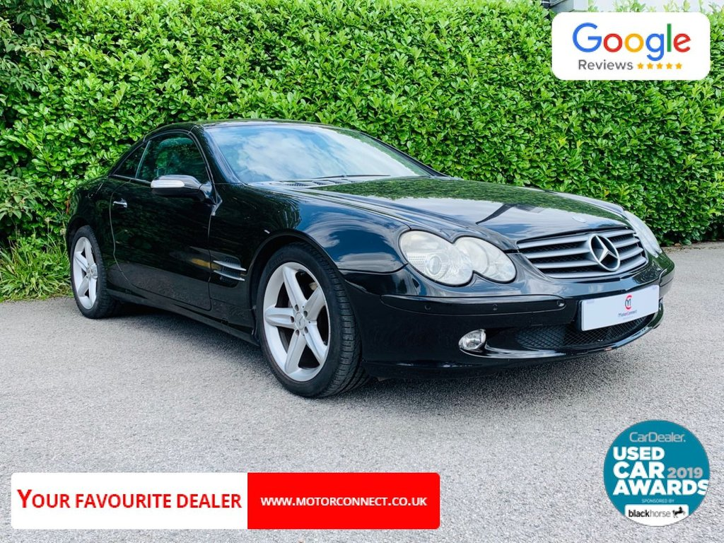"""USED 2005 55 MERCEDES-BENZ SL 3.7 SL350 2d 245 BHP Service History, Full Leather Trim, Heated Front Seats, Sat Nav, Bluetooth, Electric Memory Seats, Cruise Control, Climate Control, Air Conditioning, Front + Rear Parking Sensors, 18"""" Alloy Wheels, Drive Away In Under 1 Hour"""
