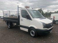 2015 VOLKSWAGEN CRAFTER CR 35 2.0 TDI 109 SINGLE CAB STEEL BODIED TIPPER £8995.00