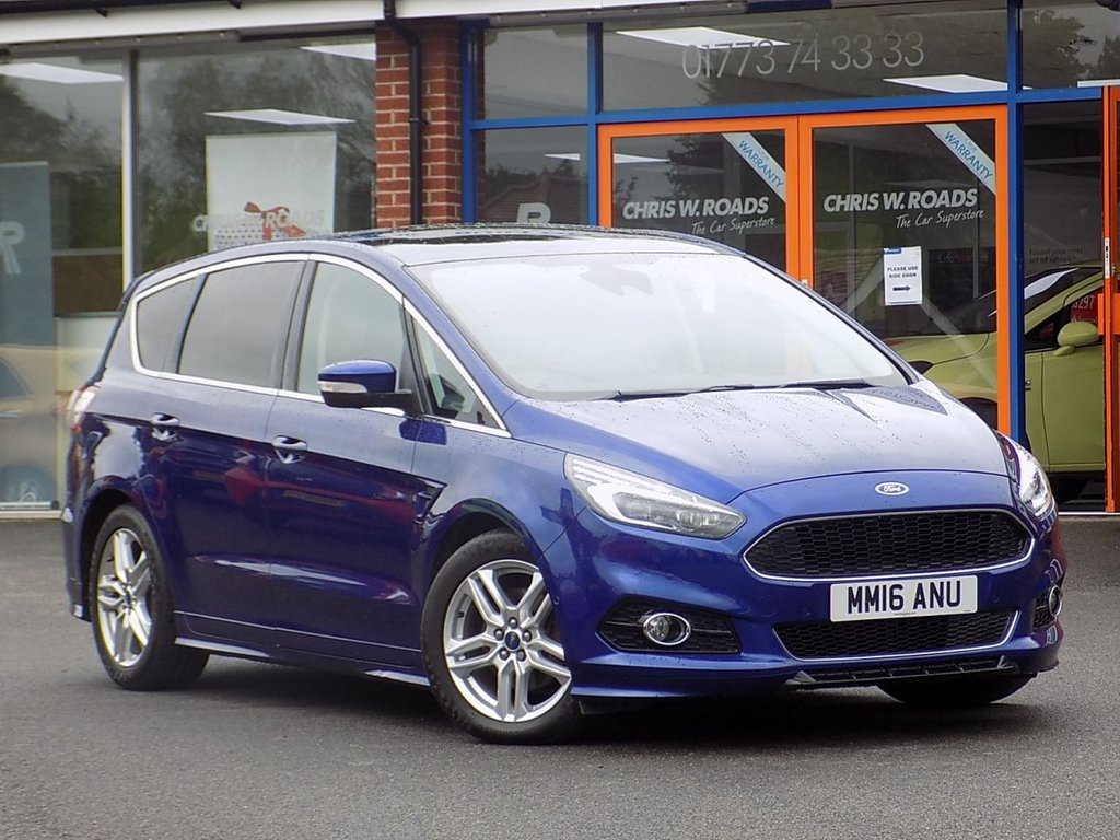 USED 2016 16 FORD S-MAX 2.0 TDCi Titanium Sport (X Pack) 5dr Powershift ** 7 Seats + Pan Roof + Sat Nav **