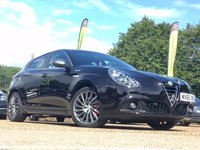 "USED 2015 65 ALFA ROMEO GIULIETTA 1.4 TB MULTIAIR QV LINE TCT 5d AUTO 170 BHP ONE PREVIOUS OWNER, SAT NAV, 18"" ALLOYS, HEATED SEATS, CRUISE CONTROL, BLUETOOTH, CLIMATE CONTROL, PARKING SENSORS, 4 ALFA SERVICE STAMPS, SPARE KEY"