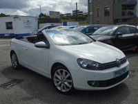 USED 2012 62 VOLKSWAGEN GOLF 1.6 SE TDI BLUEMOTION TECHNOLOGY 2d 104 BHP STUNNING COVERTIBLE+2 OWNERS