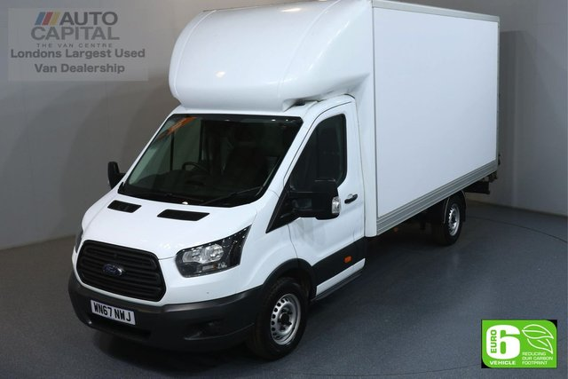 2017 67 FORD TRANSIT 2.0 350 L4 EXTRA LWB 129 BHP EURO 6 ENGINE LUTON ONE OWNER, HEATED FRONT SCREEN